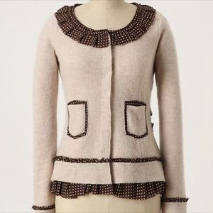Anthropologie Sparrow Polka Dot Wool Sweater